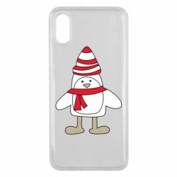 Чехол для Xiaomi Mi8 Pro Penguin in the hat and scarf