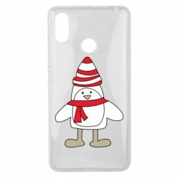 Чехол для Xiaomi Mi Max 3 Penguin in the hat and scarf