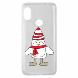 Чехол для Xiaomi Redmi Note 6 Pro Penguin in the hat and scarf