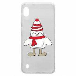 Чехол для Samsung A10 Penguin in the hat and scarf