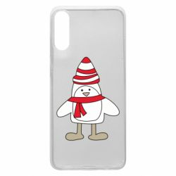 Чехол для Samsung A70 Penguin in the hat and scarf