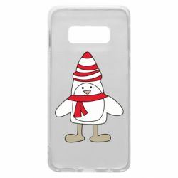 Чехол для Samsung S10e Penguin in the hat and scarf