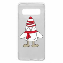 Чехол для Samsung S10 Penguin in the hat and scarf