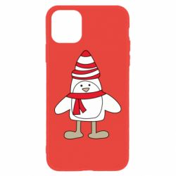 Чехол для iPhone 11 Penguin in the hat and scarf
