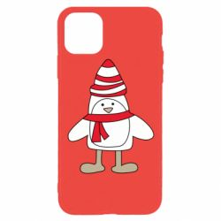 Чехол для iPhone 11 Pro Penguin in the hat and scarf