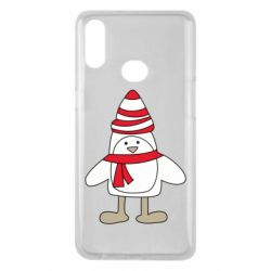 Чехол для Samsung A10s Penguin in the hat and scarf