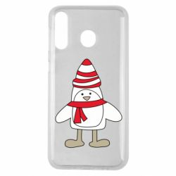 Чехол для Samsung M30 Penguin in the hat and scarf