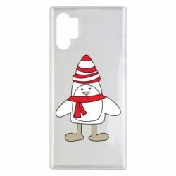 Чехол для Samsung Note 10 Plus Penguin in the hat and scarf