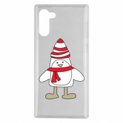 Чехол для Samsung Note 10 Penguin in the hat and scarf