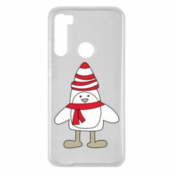 Чехол для Xiaomi Redmi Note 8 Penguin in the hat and scarf