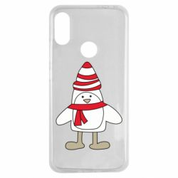 Чехол для Xiaomi Redmi Note 7 Penguin in the hat and scarf
