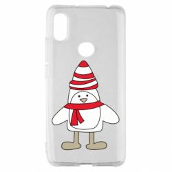Чехол для Xiaomi Redmi S2 Penguin in the hat and scarf