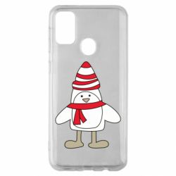 Чехол для Samsung M30s Penguin in the hat and scarf
