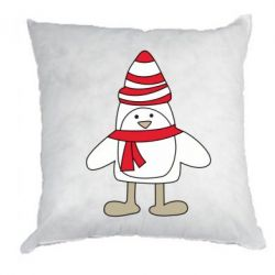 Подушка Penguin in the hat and scarf - FatLine