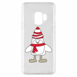 Чехол для Samsung S9 Penguin in the hat and scarf