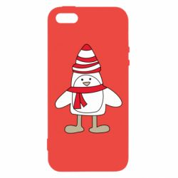Чехол для iPhone5/5S/SE Penguin in the hat and scarf