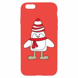 Чехол для iPhone 6/6S Penguin in the hat and scarf