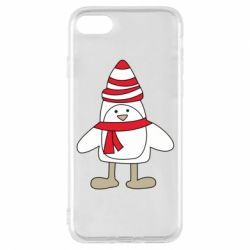 Чехол для iPhone 8 Penguin in the hat and scarf