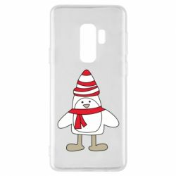 Чехол для Samsung S9+ Penguin in the hat and scarf