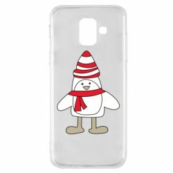 Чехол для Samsung A6 2018 Penguin in the hat and scarf