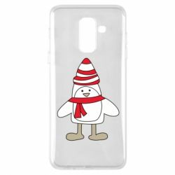 Чехол для Samsung A6+ 2018 Penguin in the hat and scarf