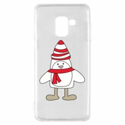Чехол для Samsung A8 2018 Penguin in the hat and scarf
