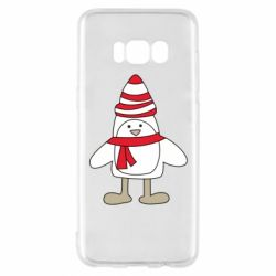 Чехол для Samsung S8 Penguin in the hat and scarf