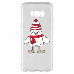 Чехол для Samsung S8+ Penguin in the hat and scarf