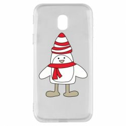 Чехол для Samsung J3 2017 Penguin in the hat and scarf