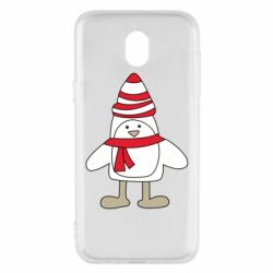 Чехол для Samsung J5 2017 Penguin in the hat and scarf