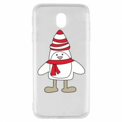 Чехол для Samsung J7 2017 Penguin in the hat and scarf
