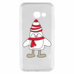 Чехол для Samsung A3 2017 Penguin in the hat and scarf