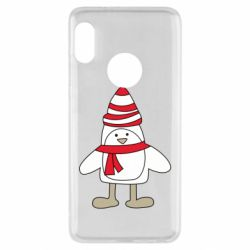 Чехол для Xiaomi Redmi Note 5 Penguin in the hat and scarf