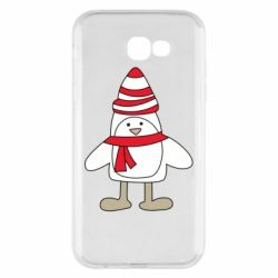 Чехол для Samsung A7 2017 Penguin in the hat and scarf