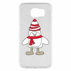 Чехол для Samsung S6 Penguin in the hat and scarf