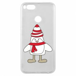 Чехол для Xiaomi Mi A1 Penguin in the hat and scarf