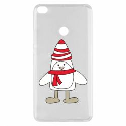 Чехол для Xiaomi Mi Max 2 Penguin in the hat and scarf