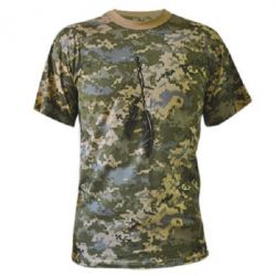Камуфляжна футболка Перо