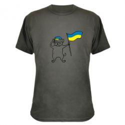 Камуфляжная футболка Пес з прапором - FatLine