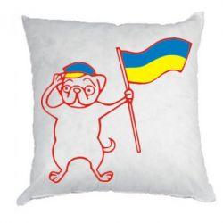 Подушка Пес з прапором - FatLine