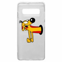 Чехол для Samsung S10+ Пес