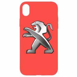 Чохол для iPhone XR Peugeot Logo