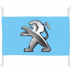 Прапор Peugeot Logo