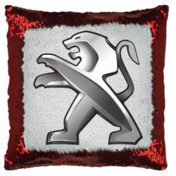 Подушка-хамелеон Peugeot Logo
