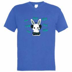 Мужская футболка  с V-образным вырезом Pew pew pew 1