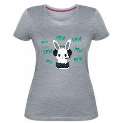 Женская стрейчевая футболка Pew pew pew 1