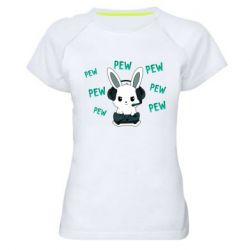 Женская спортивная футболка Pew pew pew 1