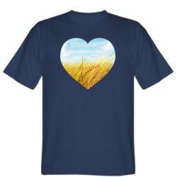 Чоловіча футболка Пейзаж України в серце
