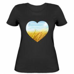 Жіноча футболка Пейзаж України в серце