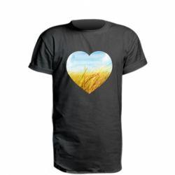 Подовжена футболка Пейзаж України в серце